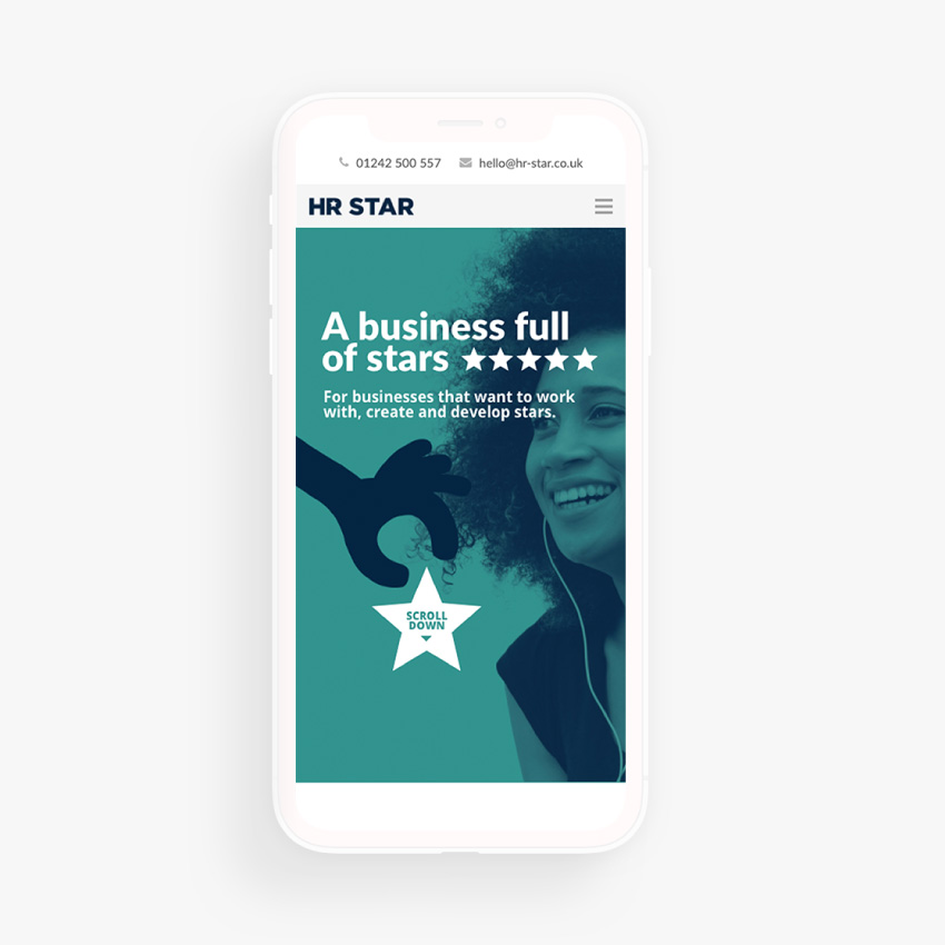 HR Star Mobile Website Design and Build by Nous Digital in Gloucester