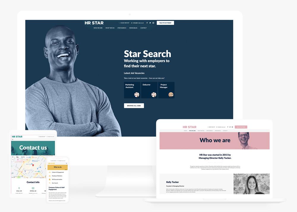 HR Star Responsive Website Design and Build in Gloucester