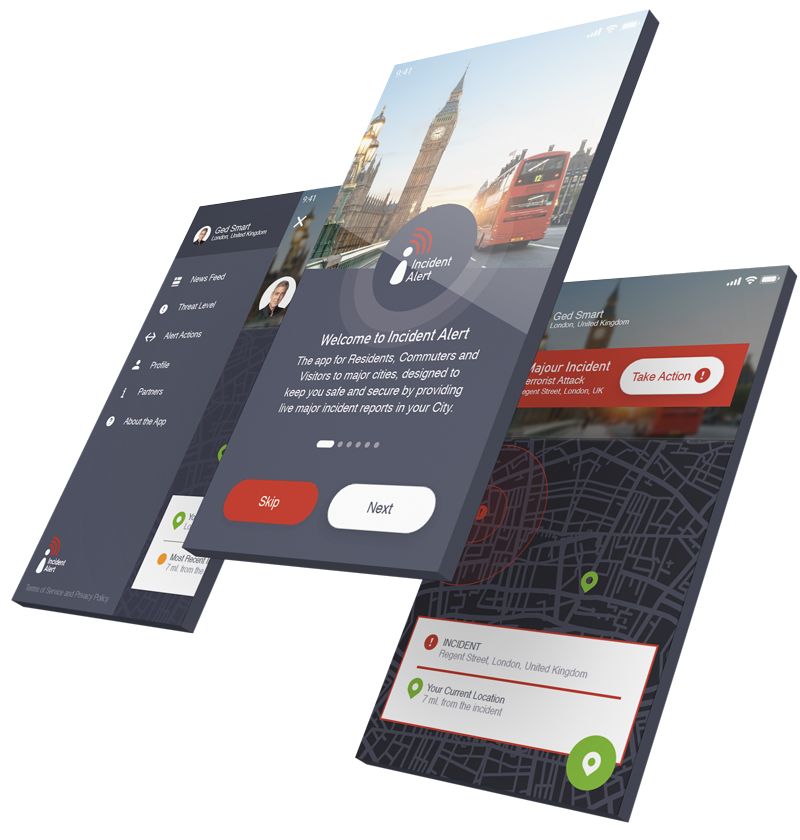 Incident Alert Mobile App Design Screen by Nous Digital Gloucester