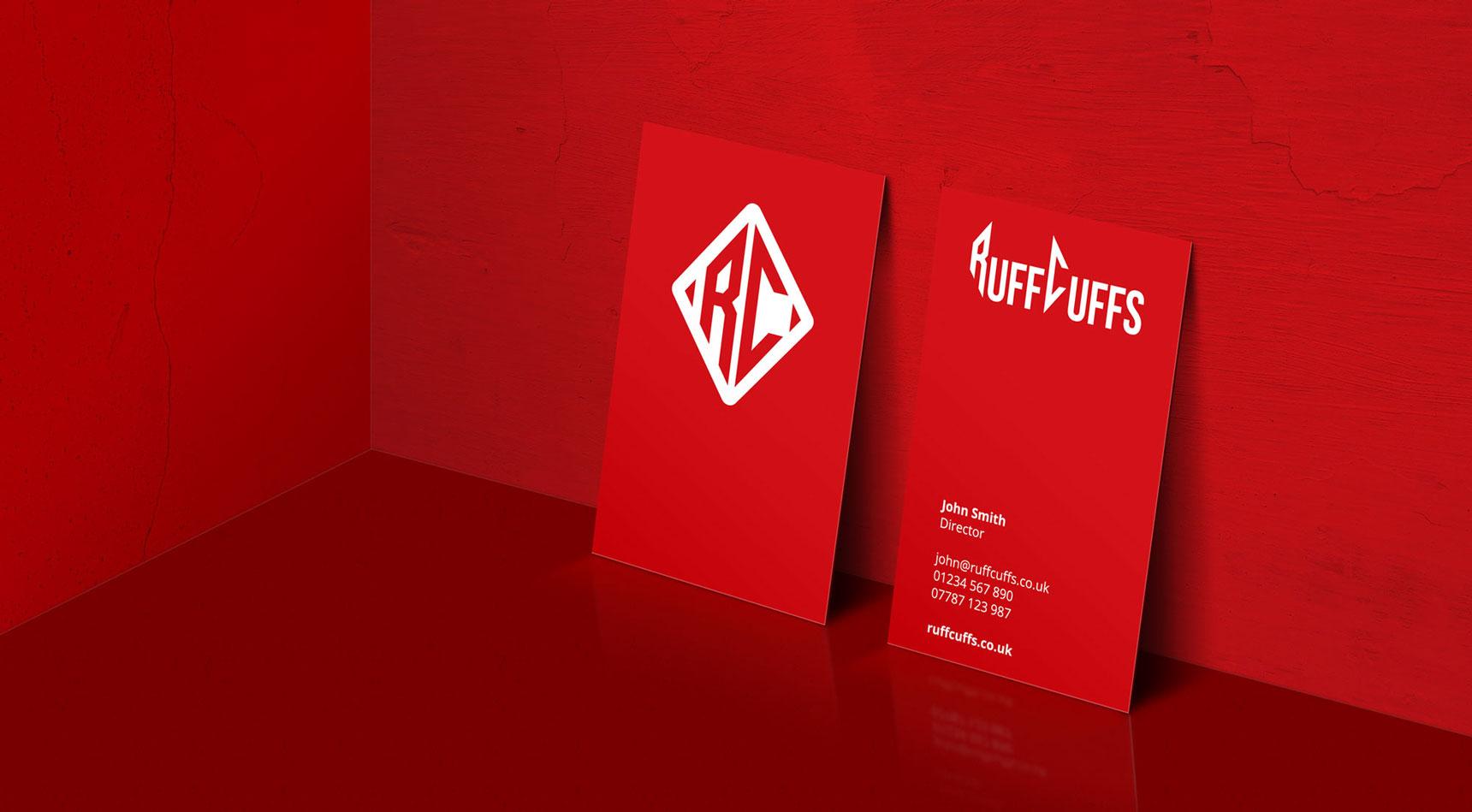 Ruff Cuffs Business Card Design and Branding by Nous Digital Gloucester